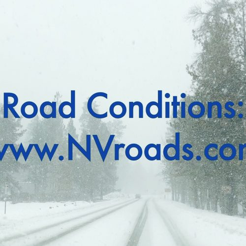 snowy forest road Visit nvraods for traffic and road restrictions, or call 511
