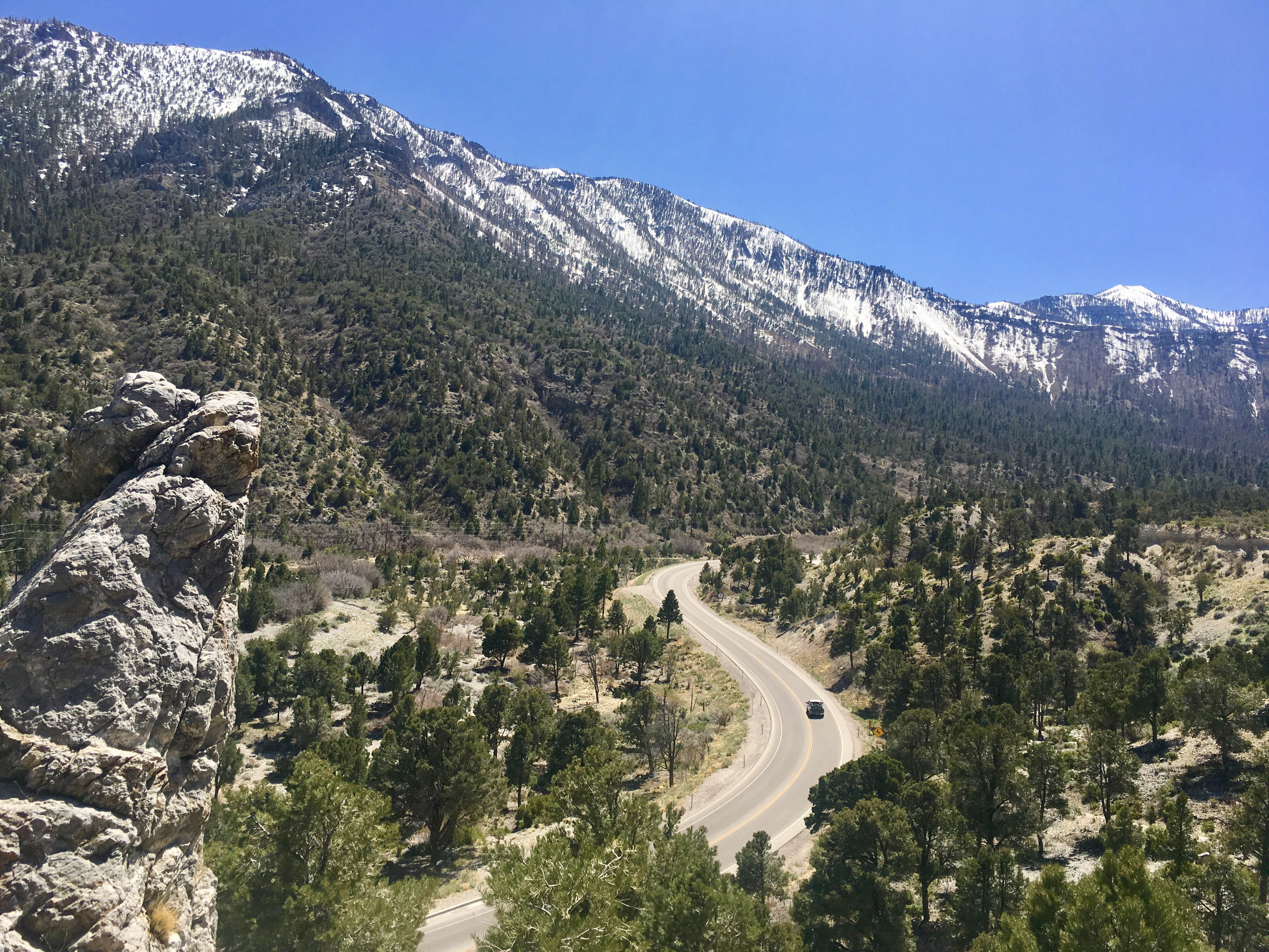 road winding into Kyle canyon