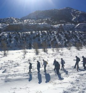 snowshoe hike in Kyle Canyon
