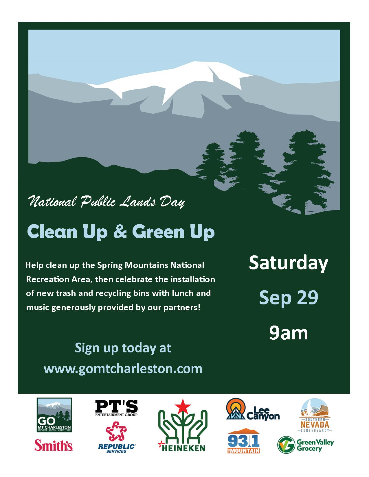 Green the mountain cleanup and bbq sep 29