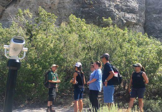 hike group at crash scope