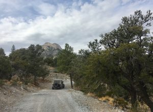 Jeep in Macks Canyon