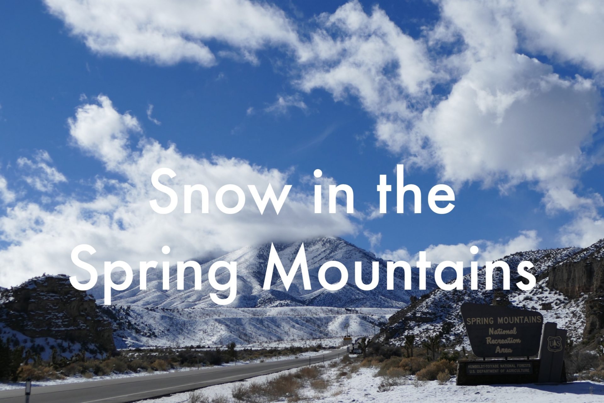 snow in the spring mountains