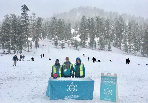 Snow hosts in Lee Meadows